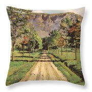 The Road To Evordes Throw Pillow