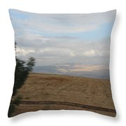 The Road To Galilee Throw Pillow