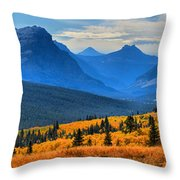 The Road To Glacier Throw Pillow