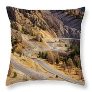 The Road To Izoard Pass - 2 - French Alps Throw Pillow
