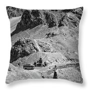 The Road To Ladakh Bw Throw Pillow