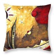 The Road To Life Original Madart Painting Throw Pillow
