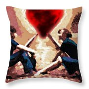 The Road To Love #0007 Throw Pillow