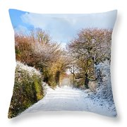 The Road To Restronguet Throw Pillow