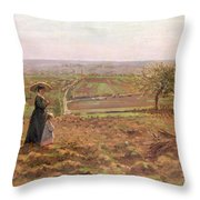 The Road To Rouen Throw Pillow