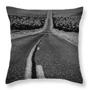 The Road To Shoshone Throw Pillow