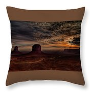 The Road To Sunrise Throw Pillow