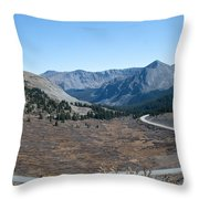 The Road To The Continental Divide Throw Pillow