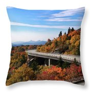 The Road To Winter Throw Pillow