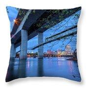 The Robert E Lee Bridge Throw Pillow