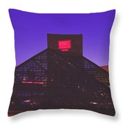 The Rock And Roll Hall Of Fame Throw Pillow