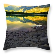 The Rockies Reflected At Lake Annettee Throw Pillow