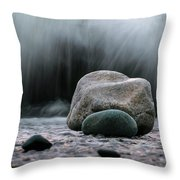 The Rocks At The End Of Hastie Road Throw Pillow