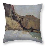 The Rocks At Vallieres Throw Pillow