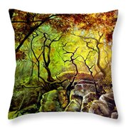 The Rocks In Starachowice Throw Pillow