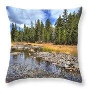 The Rocks Of Rock Creek Throw Pillow