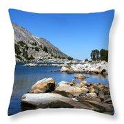 The Rocks Of Treasure Lake Throw Pillow