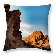 The Rocks Of Vasquez Throw Pillow