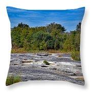 The Rocky Limestone Trail  Throw Pillow