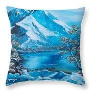 The Rocky Mountains  Throw Pillow