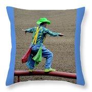 The Rodeo Clown Throw Pillow