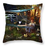 The Roger Painting Throw Pillow