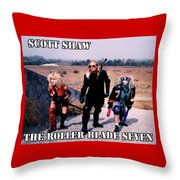 The Roller Blade Seven Throw Pillow by The Scott Shaw Poster Gallery