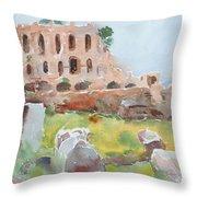 The Roman Forum Throw Pillow