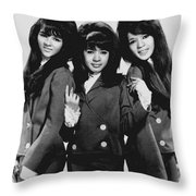 The Ronettes 1966 Throw Pillow