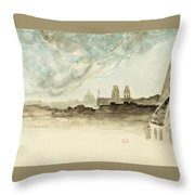 The Roofs Of Paris Throw Pillow