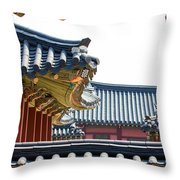 The Roofs Of Suwon Throw Pillow
