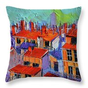 The Rooftops Throw Pillow