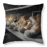 The Room Of Lost Soles Throw Pillow by Lori Deiter