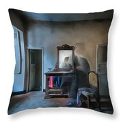 The Room Of The Castle Of The Phantom Of The Mirror Paint Throw Pillow
