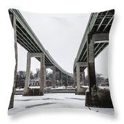 The Roosevelt Expressway Bridges Throw Pillow