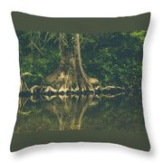The Roots Throw Pillow by Amber Dopita