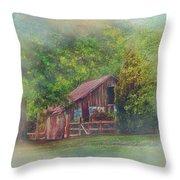The Rose Barn Throw Pillow