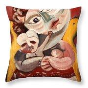 The Rose Madonna Throw Pillow by John Keaton