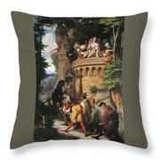 The Rose Or The Artist's Journey Throw Pillow