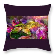 The Roses In The Sheep Dream Throw Pillow