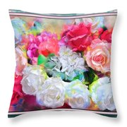 The Roses Of Catherine Deneuve Throw Pillow