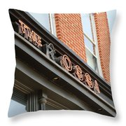 The Rossi Tavern Sign Throw Pillow