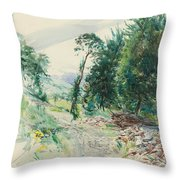 The Route Throw Pillow