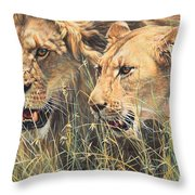 The Royal Couple II Throw Pillow