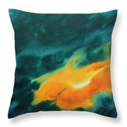 The Royal Fire Throw Pillow