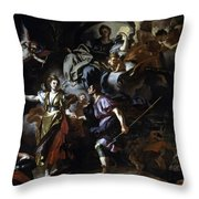 The Royal Hunt Of Dido And Aeneas Throw Pillow
