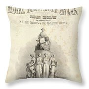 The Royal Illustrated Atlas Throw Pillow