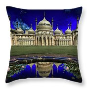 The Royal Pavilion At Sunrise Throw Pillow