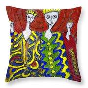 The Royal Sisters Throw Pillow