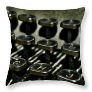 The Royal Typewriter Throw Pillow